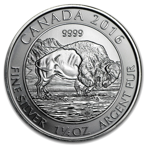 1.25 oz Bisonte Canadiense | Plata | 2016