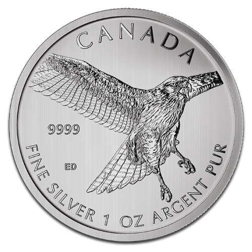 1 oz Halcón de Cola Roja Birds of Prey | Plata | 2015