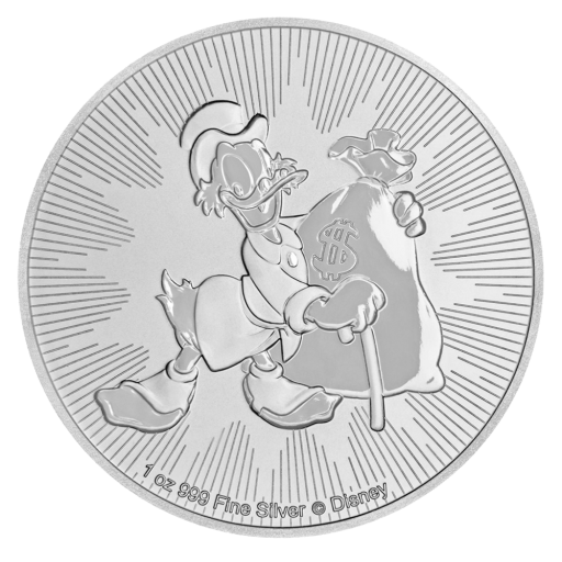 1 oz Disney Scrooge McDuck Silver Coin (2018)
