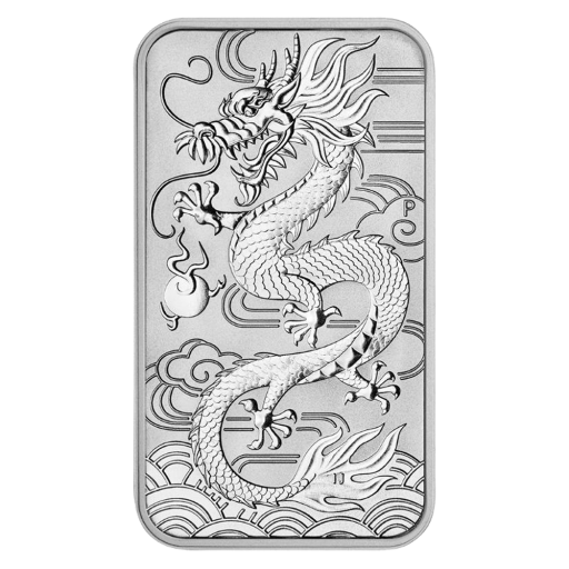 1 oz Dragon 2018 Argent (rectangulaire)