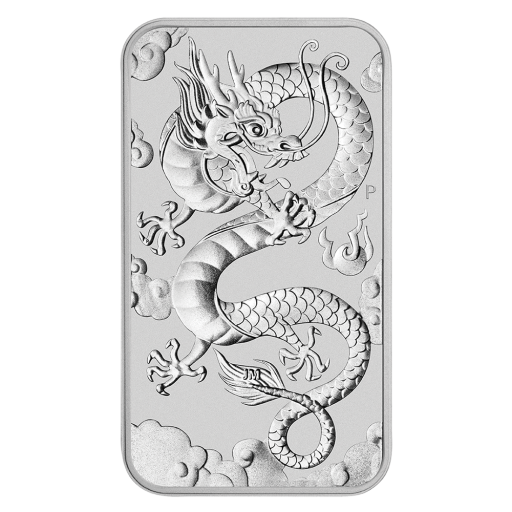 1 oz Dragón 2019 de Plata (rectangluar)