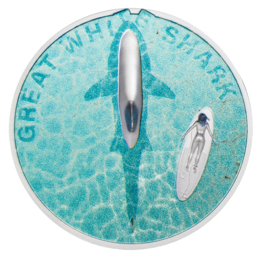 1 oz Great White Shark Silver Proof Coin (2021)