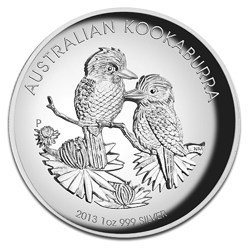 1 oz Kookaburra d'argento Fondo a specchio Proof Altorilievo (2013)