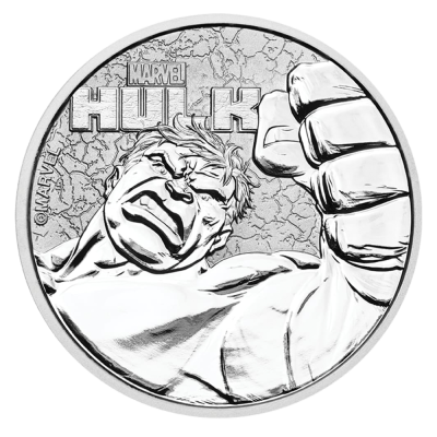 1 oz Moneta d'argento Marvel Hulk (2019)