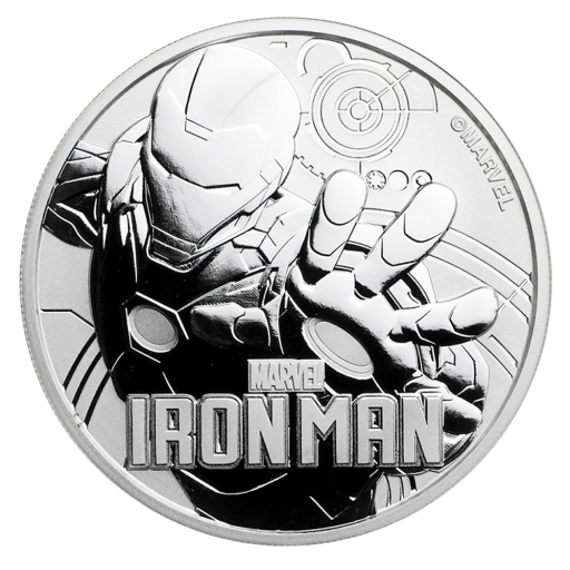 1 oz Moneta d'argento Marvel Iron Man (2018)