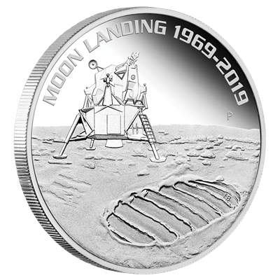 1 oz Moon Landing 1969-2019 Silver Coin
