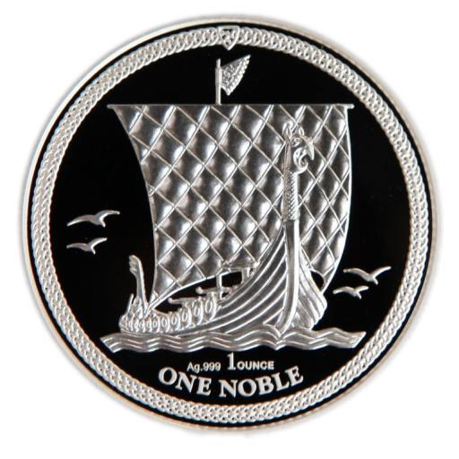 1 oz Noble Isle of Man d'argent PU (2018)
