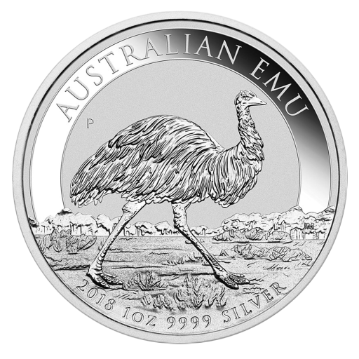 1 oz Perth Mint Silver Emu (2018)