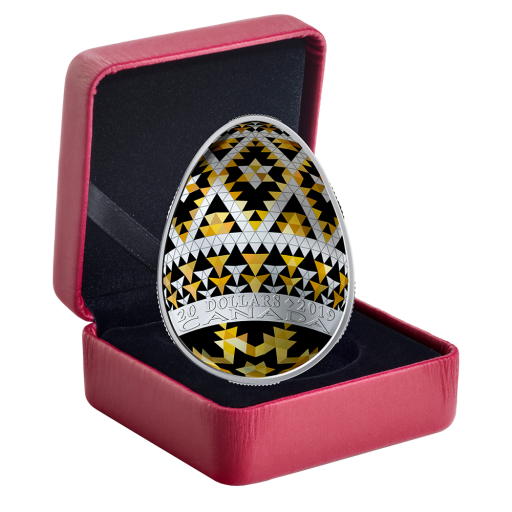 1 oz Huevo Pysanka-Ucrania Moneda de Plata Proof (2019)