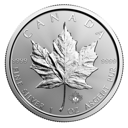1 oz Maple Leaf Impresa Plata (2018)
