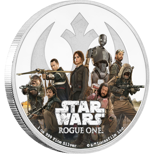 1 oz STAR WARS Rogue One - Rébellion | Argent | 2016