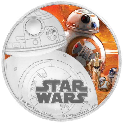 1 oz STAR WARS The Force Awakens - BB-8™ | Silver | 2016