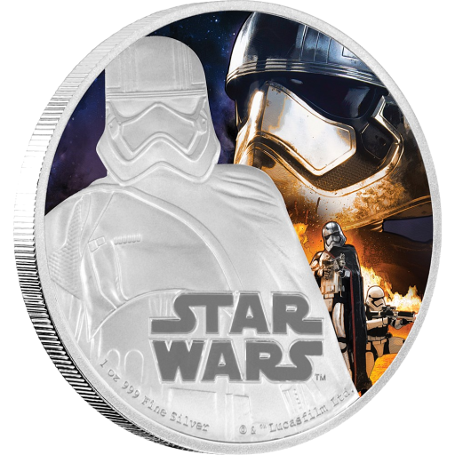 1 oz STAR WARS The Force Awakens - Captain Phasma™ | Argent | 2016