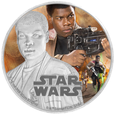 1 oz STAR WARS The Force Awakens - Finn™ | Silver | 2016