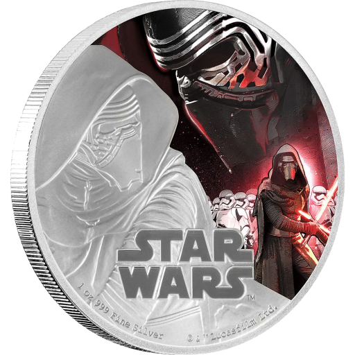 1 oz STAR WARS The Force Awakens - Kylo Ren™ | Silver | 2016