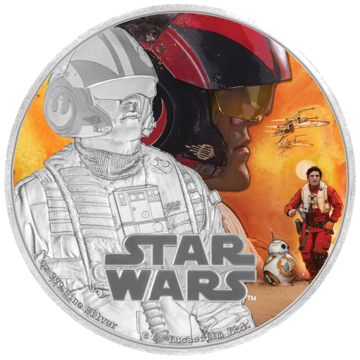 1 oz STAR WARS The Force Awakens - Poe Dameron™ | Silver | 2016