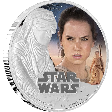 1 oz STAR WARS The Force Awakens - Rey™ | Silver | 2016