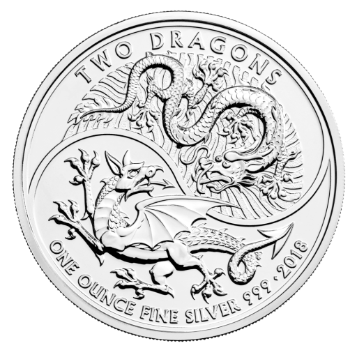 1 oz Two Dragons Silver Coin (2018)
