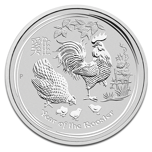 10 oz Lunar II Rooster | Silver | 2017