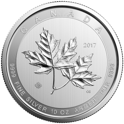10 oz Maple Leaf de Plata