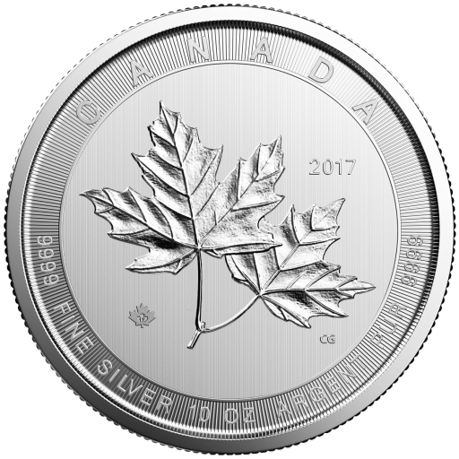 10 oz Maple Leaf Magnificent d'argento