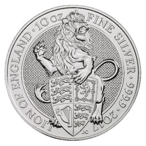 10 oz Queen's Beasts Löwe | Silber | 2017
