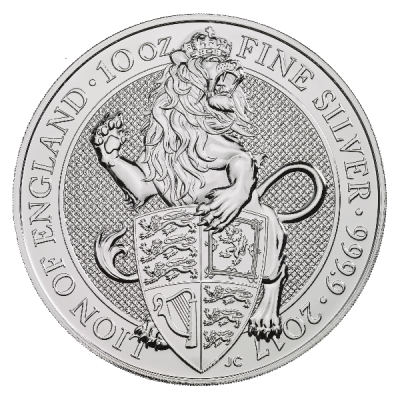 10 oz Queen's Beasts Lion | Argent | 2017