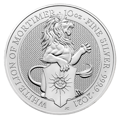 10 oz Queen's Beasts White Lion | Argent | 2021