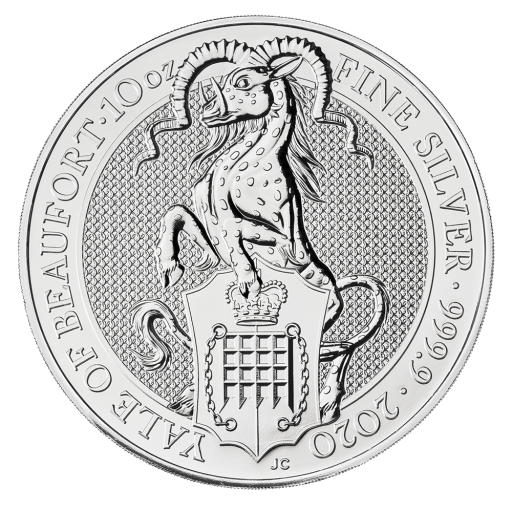 10 oz Queen's Beasts Yale of Beaufort d'argento (2020)