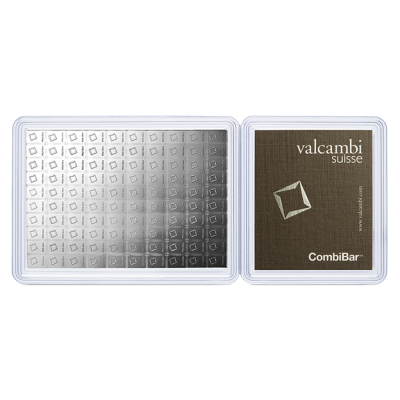 100 x 1g Argent CombiCoin | Valcambi