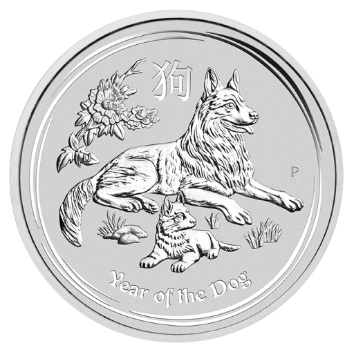 2 oz Lunar II Dog | Silver | 2018