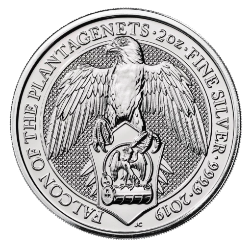 2 oz Queen's Beasts Faucon | Argent | 2019