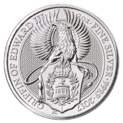 2 oz Queen's Beasts Griffin   Silver   2017