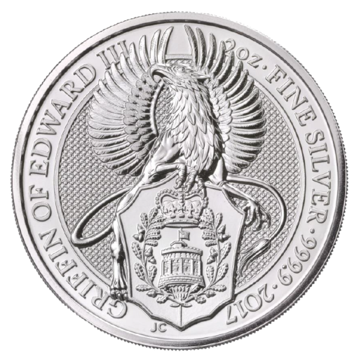 2 oz Queen's Beasts Griffo | Plata | 2017