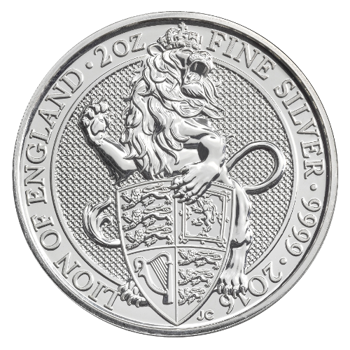 2 oz Queen's Beasts Leone d'argento (2016)