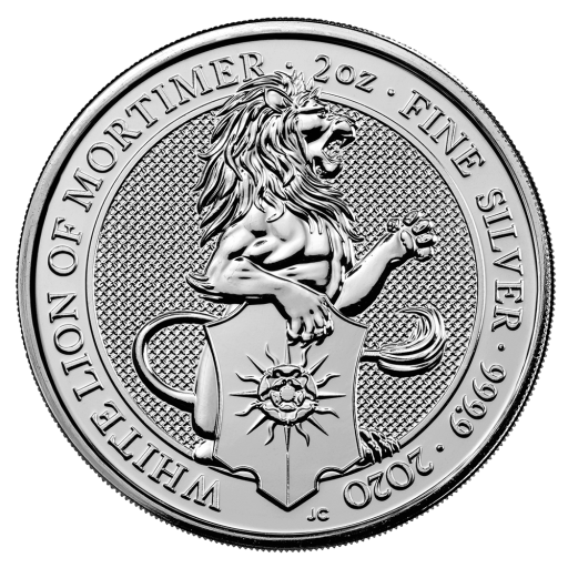 2 oz Queen's Beasts White Lion Silver Coin (2020)