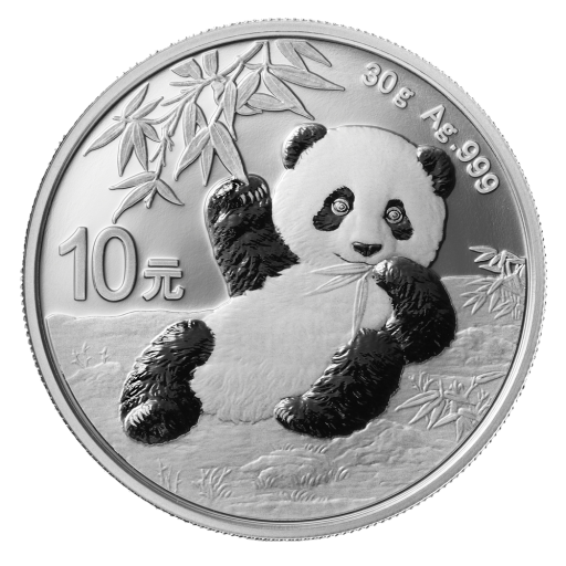 30g China Panda Silbermünze (2020)