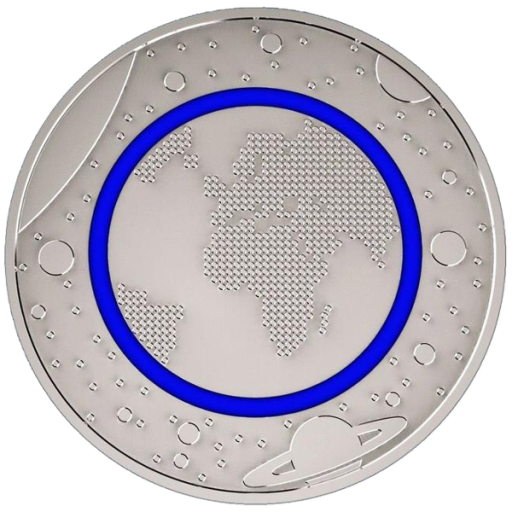 5 Euro Coin Blue Planet Polymer Ring | Cupronickel | 2016